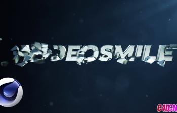 C4D+AE教程 破碎工具制作文字破碎动画片头教程