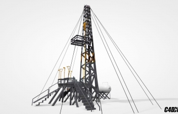 C4D模型 石油平台 Oil Platform