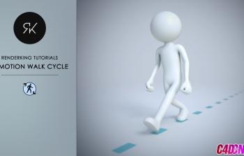 C4D教程 C-Motion循环运动工具制作人物循环走路动画