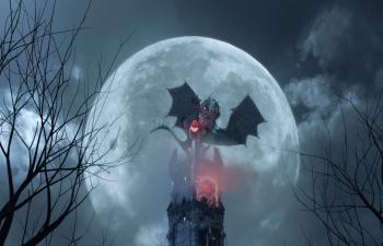 C4D黑暗城堡