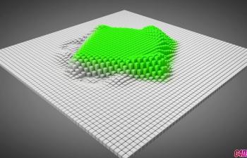 C4D+AE配合运动图形着色效果器制作滑动变形的方块教程