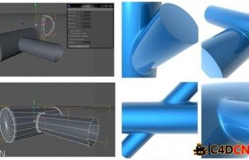 C4D开孔插件及视频教程下载 C4D Holes-Zyl-Zyl-II.cof(cinema 4d )Geometrische ...