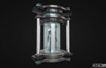 C4D生化实验室怪物玻璃容器模型