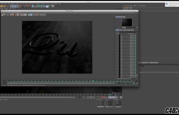 C4D+AE教程 通道视频素材通过凹凸通道生成文字生长动画教程