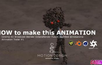 C4D教程 Octane渲染器合成跳舞的巧克力豆小人動畫教程