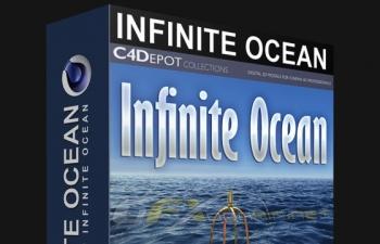 C4D预设 Infinite Ocean海洋生成器预设C4D V1.34版 Infinite Ocean 1.34 For Cinema 4D R12...