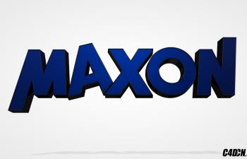 C4D文字模型 MAXON官方LOGO 含曲线