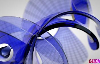 C4D抽象栏目包装风格玻璃材质渲染教程 Стеклянная фигура в Cinema 4D
