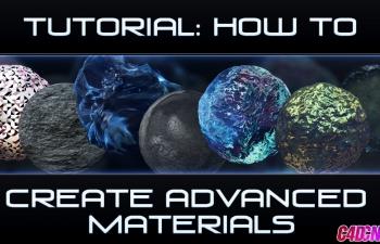 C4D高级材质科幻材质渲染C4D教程 How to Make Advanced Materials