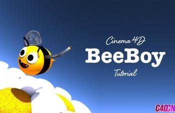 C4D教程 卡通小蜜蜂角色建模渲染教程 Cinema 4D Simple character mode