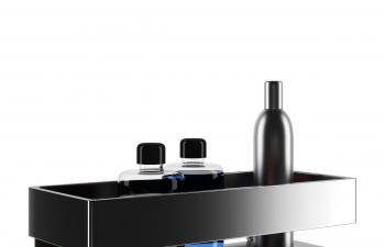 C4D模型 洗發水瓶子組合模型置物架