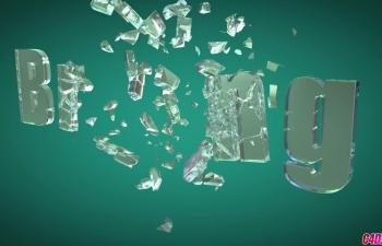 CN20190304-08 C4D玻璃材质文字破碎动画渲染C4D教程