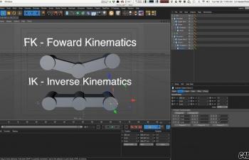 [角色绑定] C4D 机械IK绑定视频教程