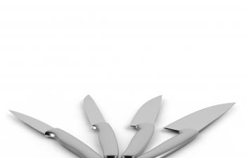 C4D模型 厨房刀子切菜刀水果刀组合模型