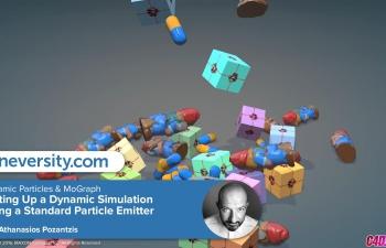 C4D教程 运动图形工具配合动力学制作动画模拟教程
