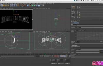 GSG301.在带有镜面灯光源的Cinema 4D中制作金属型徽标C4D教程