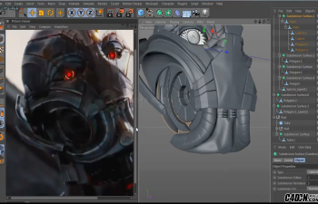 CINEMA 4D  ULTRON雕刻和造型教程