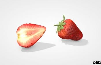 C4D水果模型 草莓