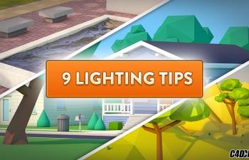 C4D教程:9种灯光技巧