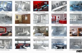 C062 室内 10个高品质室内建筑设计模型合辑