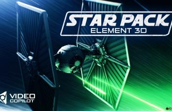 E3D V2模型包-星球大战三维模型Videocopilot Element 3d v2 Star Wars Model Pack