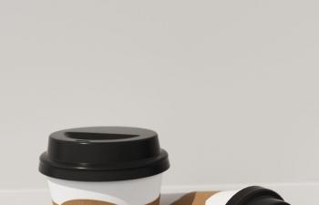 C4D模型 奶茶杯子纸杯包装盒水杯模型