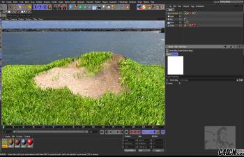 CINEMA 4D教程 - 使用顶点贴图制作边缘锈迹与草地残缺