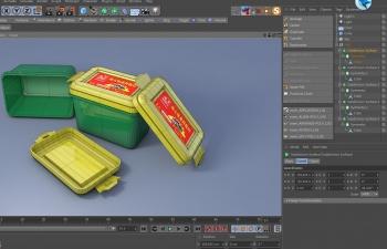 海天豆瓣酱包装盒C4D工程