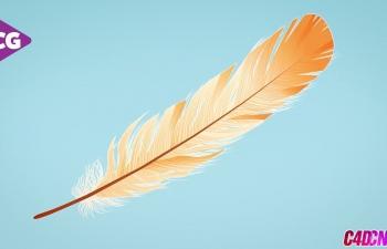 C4D教程 空气动力学模拟羽毛飘落教程(含工程)