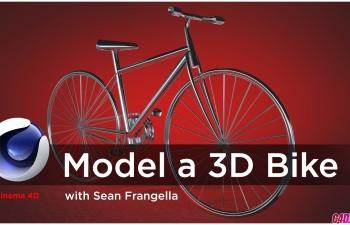 C4D教程 自行车建模教程