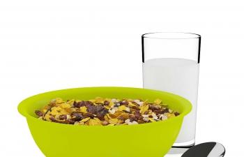 C4D模型 燕麦片早餐牛奶食品模型