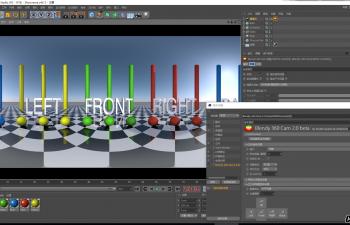 C4D插件 鱼眼全景圆柱穹顶立体摄像机插件汉化版 StudioAvante Blendy360Cam v2.0 WINONLY