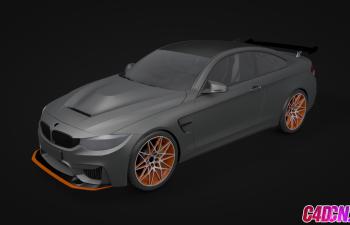 寶馬M4轎跑汽車C4D模型