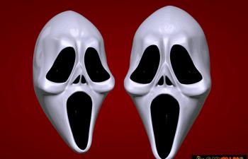 恐怖面具模型PANIC MASK