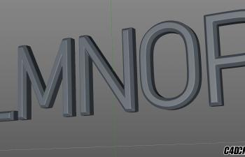 C4D模型 26个英文字母字体模型