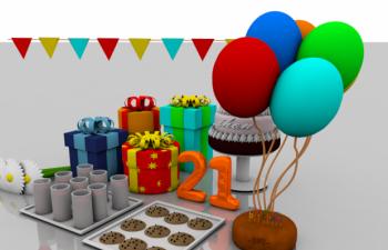 生日礼品模型gift box