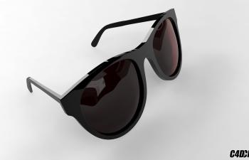 黑色眼镜 建模渲染工程文件