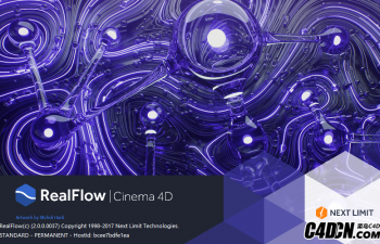 适用于R16-R19的 RealFlow for C4D V 2.0.1(Win)最新免安装破解中文版