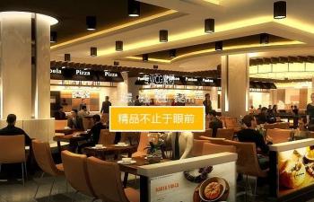 3D模型 商场超市餐厅大排档餐饮装修效果图工程