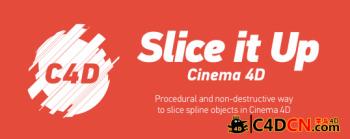 C4D插件:随机切片动画插件汉化版AEScripts Slice it Up Cinema 4D v1.0.1