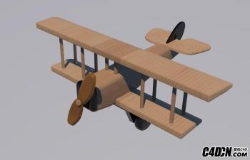 木飞机c4d模型