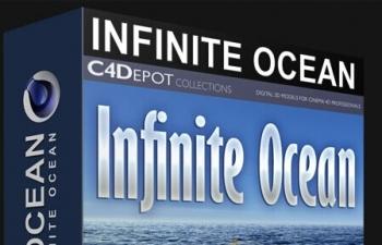 C4D预设 海洋预设Infinite Ocean 1.4 For Cinema 4D WIN