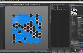 C4D教程-动画六边形图案