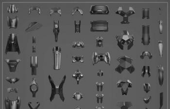装甲模型资源包,装配旋转坐标系