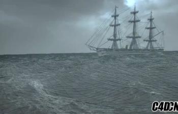 C4D海洋模拟插件汉化版 aaOcean Suite