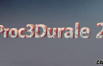 C4D插件教程 镂空腐蚀插件2.0使用教程 Code Vonc Proc3durale v2.0.2
