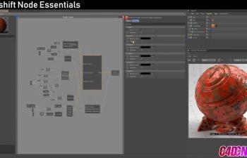 Redshift渲染器多材质案例节点材质运用教学视频教程 Redshift Essentia