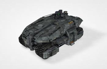 戰爭機甲履帶戰車C4D模型