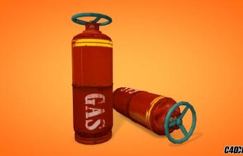 高压气体罐子C4D模型