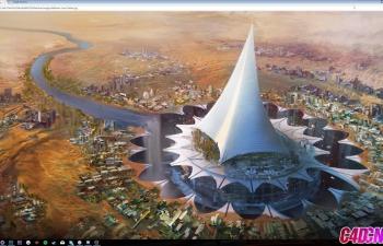 Octane渲染器制作富有科技感的未来沙漠城市C4D教程